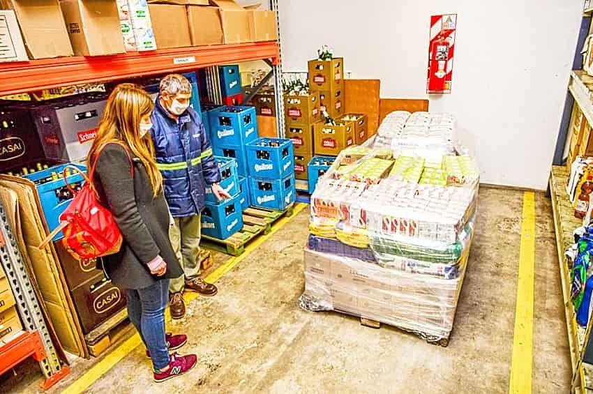 Donación de alimentos en Benito Juárez